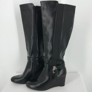 CALL IT SPRING FAUX LEATHER BOOTS, SZ 8.5